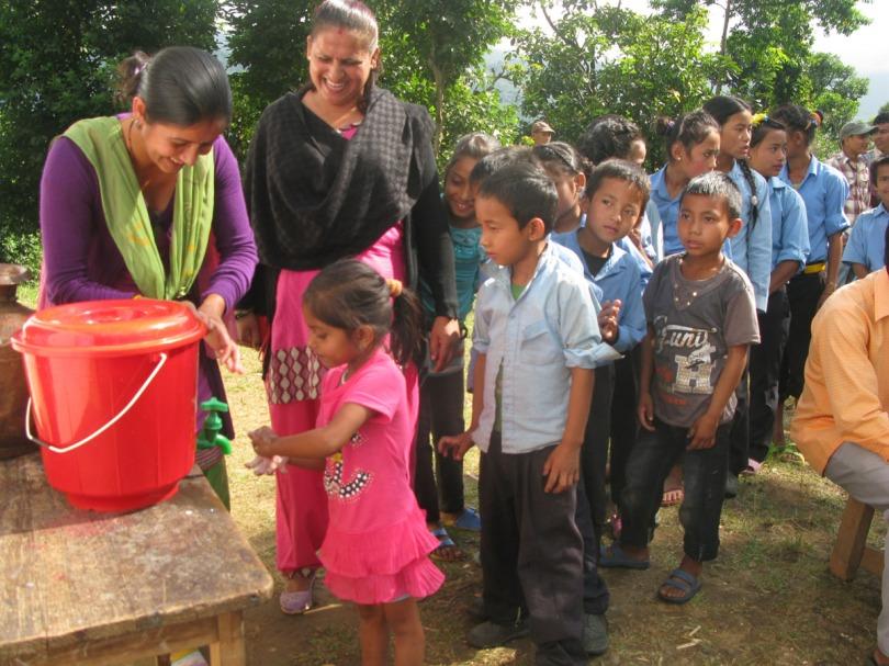 Global Hand Washing Ceremony at Namsaling VDC