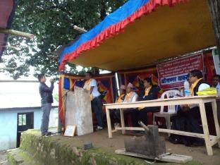 Namsaling VDC IAP Free declaration ceremony