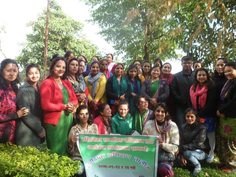 Social mobilization training to women